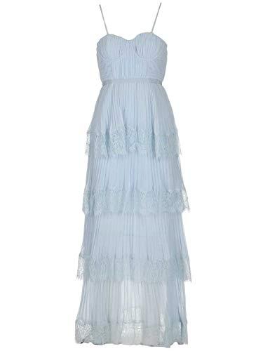 Luxury Fashion | Self-portrait Dames RS20116LTBLUE Blauw Polyester Jurken | Lente-zomer 20