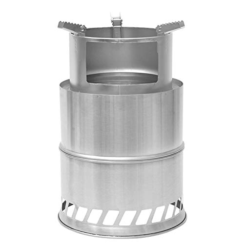 Camping Stove Backpacking Stove Wood Burner Stainless Steel Portable Wood Burning Stove for Outdoor Hiking Traveling