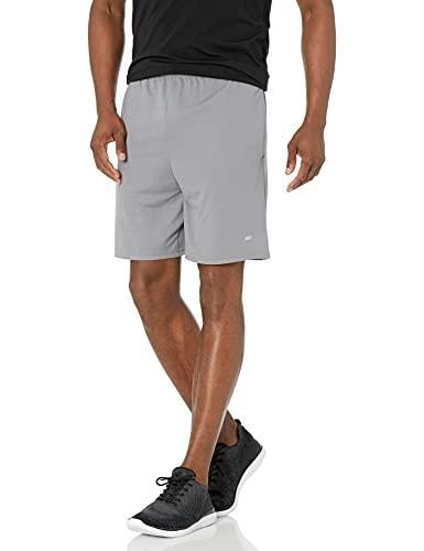 Amazon Essentials Men's 2-Pack Loose-Fit Performance Shorts, Medium Grey/Navy, Medium