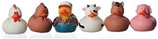 12 Farm Animal Rubber Duckies! by Fun Express