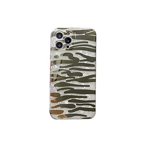 Funda de teléfono de impresión de cebra de leopardo de lujo para iPhone 11 12 Pro MAX SE 2020 7 8 Plus X XS XR XS Max Shell textura brillante cubierta-2-para iphone 7 8