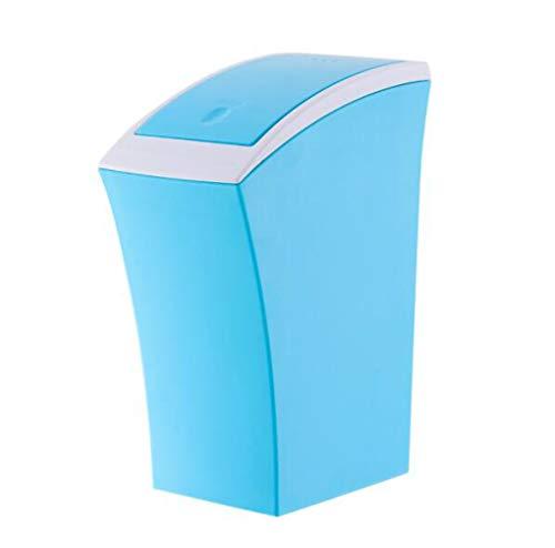LQ&XL Cubo de Basura pequeño/Papelera de Cocina, Bote de Basura de plástico Papelera para Basura en el hogar u Oficina, Papelera de Oficina/blue