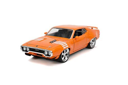 Jada Toys Bigtime Muscle 1:24 1972 Plymouth GTX Die-cast Naranja, Juguetes para niños y adultos
