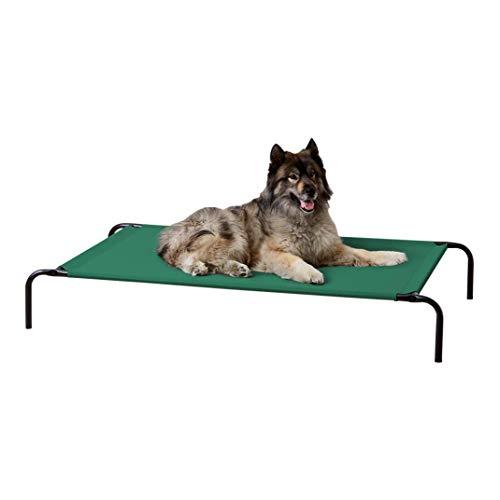 Amazon Basics - Cama elevada transpirable para mascotas, extragrande (153 x 94 x 23 cm), gris