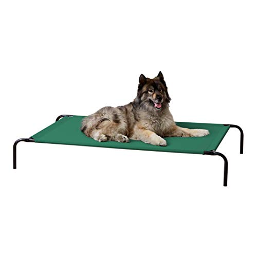 Amazon Basics Cooling Elevated Pet Bed, Extra Large (60 x 37 x 9 Inches), Grey