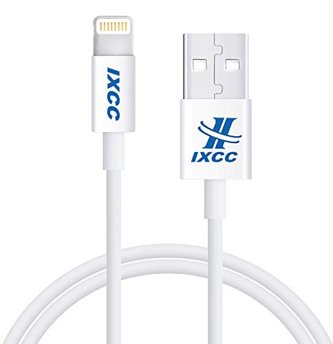 [3Pack 3ft] Lightning Cable, iPhone Charger, for iPhone X, 8, 8 Plus, 7, 7 Plus, 6s, 6s Plus, 6, 6 Plus, SE 5s 5c 5, iPad Air 2 Pro, iPad Mini 2 3 4, iPad 4th Gen [Apple MFi Certified](White)