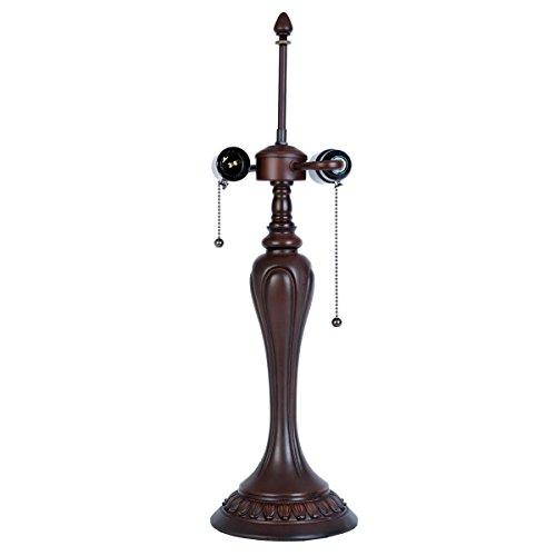 LumiLamp 5LL-5795 - Base per Lampada a 2 luci, Ø 17 x 60 cm, 2 lampadine E27 Max 40 W, per Paralume in Stile Tiffany