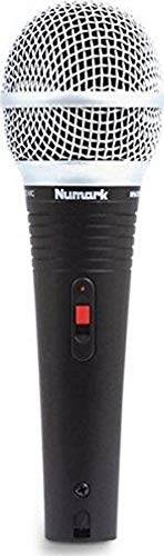 Numark WM200 - Handheld Dynamic Microphone Engineered for DJ Live Performance with Mounting Clip, 20 ft Shielded Cable and Hard, Foam-Lined Carry Case