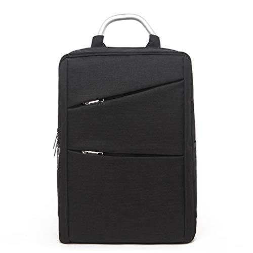 Männer Rucksack multifunktionale leinwand Casual 14 Zoll Laptop Rucksack Frauen große kapazität schultaschen Black