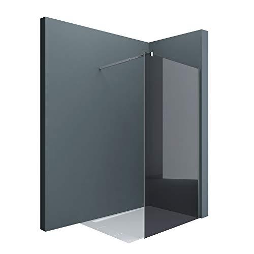 Sogood Luxus Duschwand Duschabtrennung Bremen2VG 120x200 Walk-In Dusche mit Stabilisator aus Echtglas 10mm ESG-Sicherheitsglas Klarglas inkl. Nanobeschichtung