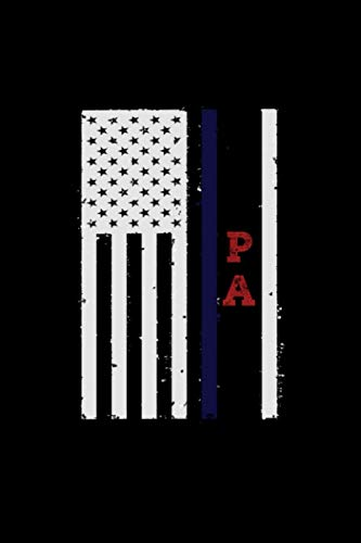 pa usa flag patriotic bruno: Lined Notebook / journal Gift,120 Pages,6*9,Soft Cover,Matte Finish