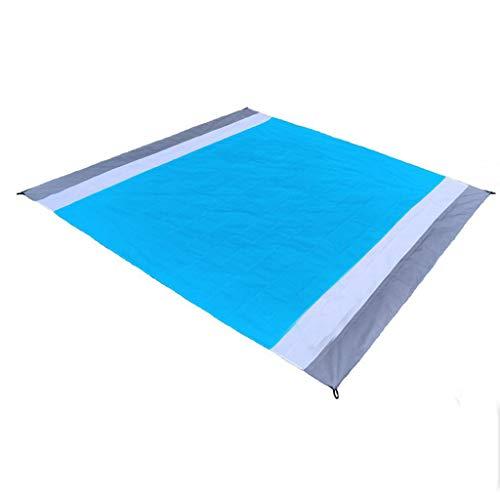 Sharplace Manta de La Playa de La Manta de La Comida Campestre, Estera Impermeable de La Comida Campestre de La Manta Que Acampa, a Prueba de Humedad - Gris + Blanco + Azul