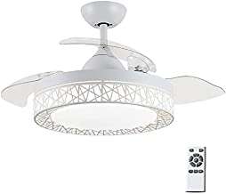 Ceiling Fan Light, Remote Control Chandelier with Fan Light, Retractable Blade Ceiling Fan, 42 Inches, 72W, Invisible Home...