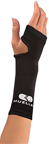 MUELLER Elastic Wrist Support, Black, Regular (76058)