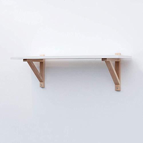 Wandstelling massief houten lijst creatieve wand Boekenkast slaapkamer woonkamer L119 * H28cm (3 kleuren) (kleur: houten frame tafel) Wooden Frame whiteboard