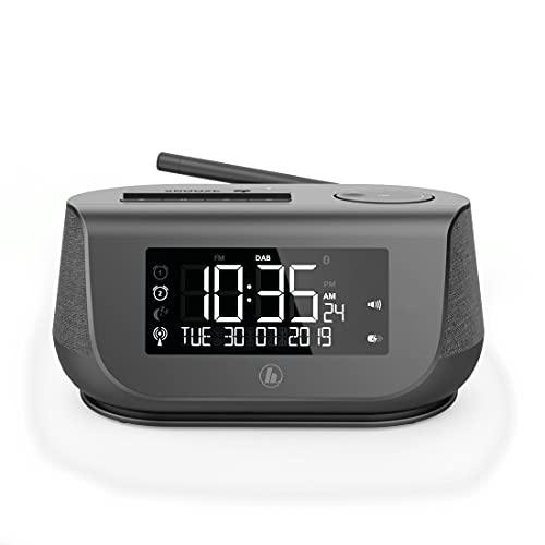 Hama 54896 Digitalradio mit Wecker (Radio DAB, DAB+,Bluetooth,USB-Ladefunktion,UKW,digitalesUhrenradio,2Weckzeiten,Wochenendfunktion,Sleeptimer,automat.Helligkeitsregulierung)RadioweckerSchwarz