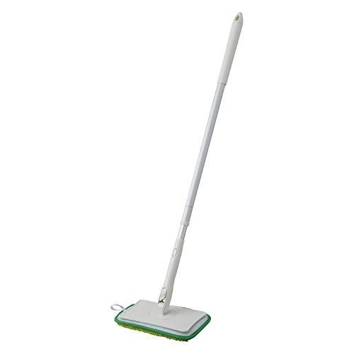 山崎産業 お風呂掃除 バス壁天井 ブラシ 伸縮 ユニットバスボンくん グリーン 156696