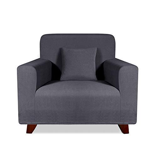 TAOCOCO Sofabezug, elastisch, für 1-Sitzer-Sofa, universell, Grau (81-120 cm)