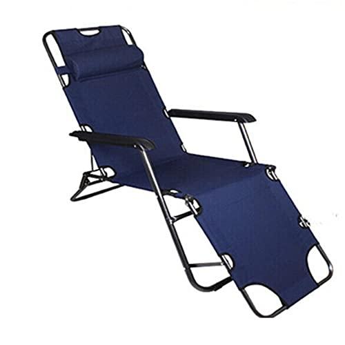 Tumbonas de Sol Plegables sillas de jardín cómodas Silla de Playa Ajustable para Jardines, Patios, Balcones y camping-B3-178cm