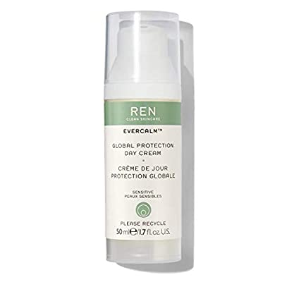 REN Clean Skincare Evercalm Global Protection Day Cream Daytime Face Moisturizer to Nourish Skin & Relieve Dryness 1.7 Fl Oz