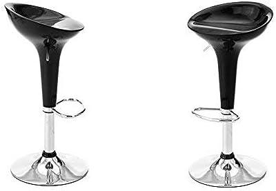 designement Valencia Taburete ABS Negro 44 x 39 x 88 cm