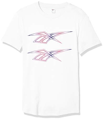 Reebok Classic Double Vector tee - Camiseta de Manga Corta Unisex, Unisex Adulto Hombre, Manga Corta, GJS50, Blanco, Medium