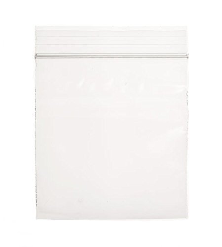 Dazzling Displays 2 Mil Clear Resealable Zip Lock Poly Bags - Case of 1000 (4' x 4')