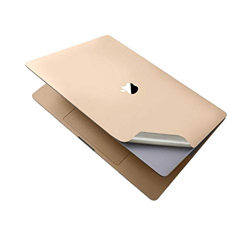 Full Body Guard 3M Film Skin Decals Sticker Keyboard Cover Screen Protector 6-in-1 for MacBook Pro 13 inch Touch Bar A2159 A1989 A1706 (Champagne Gold)