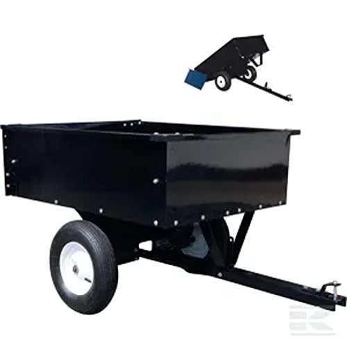 Kramp Remolque para Tractores cortacésped gopart (Acero, Negro)