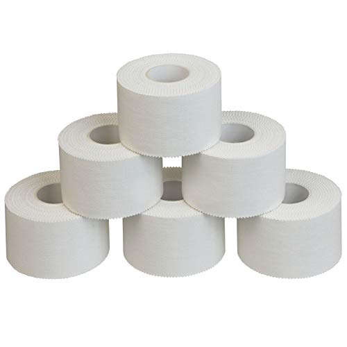 ALPIDEX 6 x Cinta Adhesiva Deportiva Blanca 3,8 cm x 10 m Sport Tape