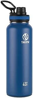 Takeya Originals Vacuum-Insulated Stainless-Steel Water Bottle, 40oz, Navy