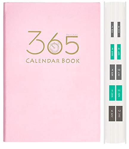 365 min planeringsdagbok 2021 familjeliv bok dagbok vecka för att se planerare inbunden affärsplanerare-rosa_400 sidor