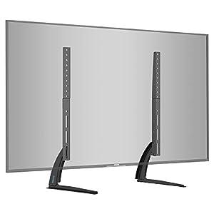 BONTEC Soporte TV de Pie Peanas para TV Patas TV 22-65 Pulgadas LED/LCD/Plasma/Curva/Plana, Soporte Pie Televisores Carga Máx. 50 kg - máximo VESA 800x400 mm
