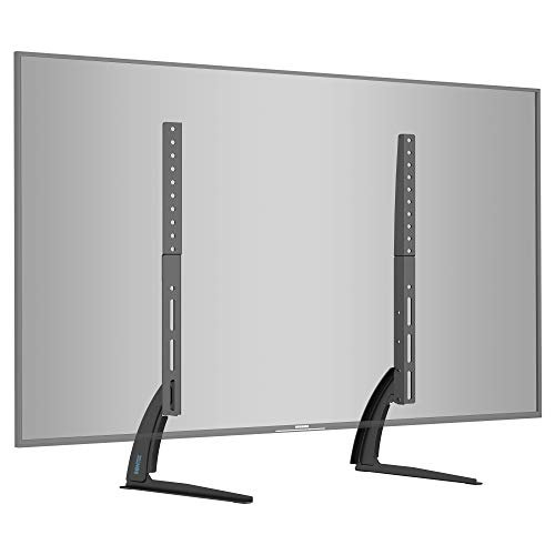 BONTEC Patas TV Soporte TV de Pie Universal para TV 22-65 Pulgadas LED LCD Plasma Curva Plana, Soporte Pie Televisores Carga Máx. 50 kg - máximo VESA 800x400 mm