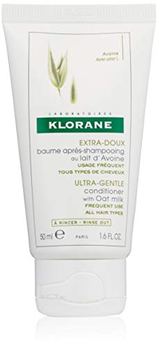 Klorane Ultra-Gentle Conditioner with Oat Milk, Suitable for the Entire Family, Paraben and Sulfate-Free, 1.6 oz.