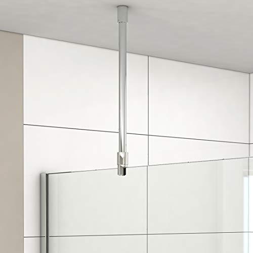 Haltestange für Duschwand Stabilisator Haltestange Glas - Decke 6-10 mm, Stabilisierungsstange für Duschen Edelstahl Chrom (500mm, 1 Stück)