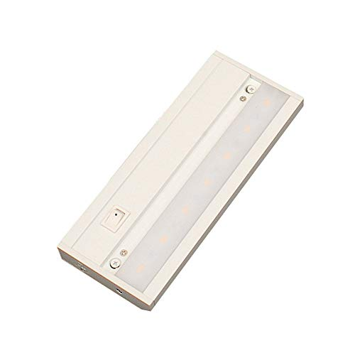 LED Under Cabinet Lighting, Hardwired or Plug in, Dimmable, 4000K, ETL & Energy Star Listed, 120V 3W 152 Lumens, 8 inches, White Finish, T3-L200BD01-WH-840