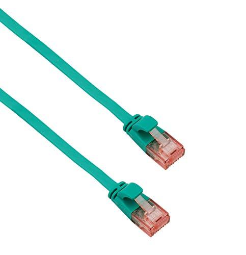 Helos Ligawo - Cable de pares trenzados (U/UTP, cat. 6, 15 m), color verde