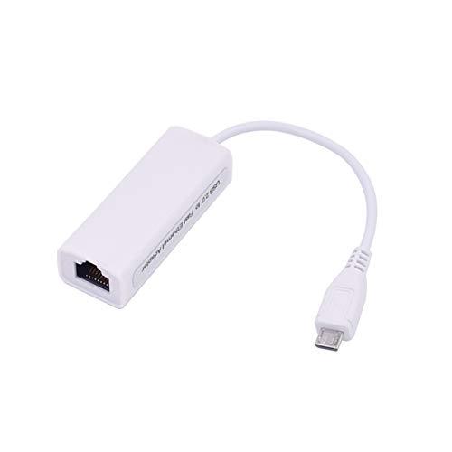 Morninganswer Adaptador Ethernet, Interfaz de Cable Micro USB a Ethernet Adaptador Ethernet OTG Internet con Cable Android Tablet PC Tarjeta de Red