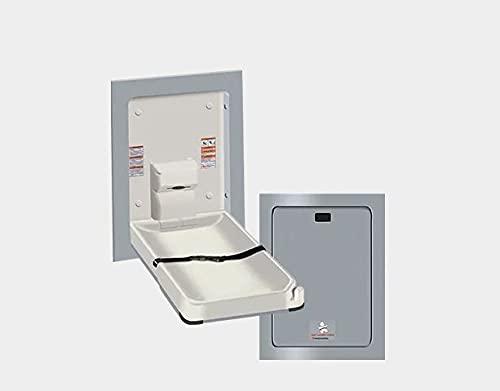 American Specialties Cambiador vertical plegable de plástico resistente a las bacterias.