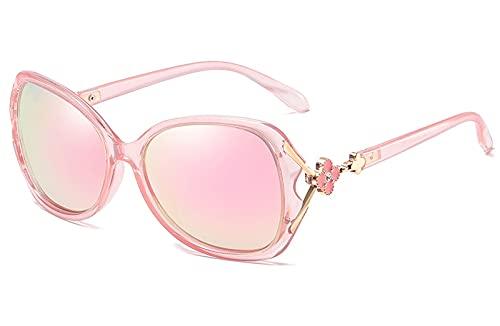 YUANCHENG Gafas de Sol polarizadas Gafas de Mujer Gafas con Montura de plástico