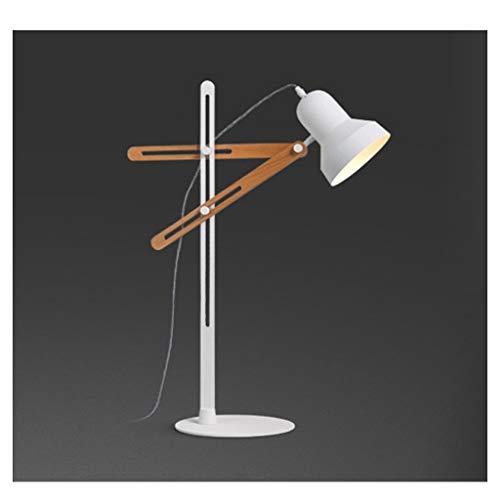 Lfixhssf moderne schommel arm tafellamp verstelbaar massief hout licht voor studenten kantoor woonkamer studie bedlampje Lfixhssf