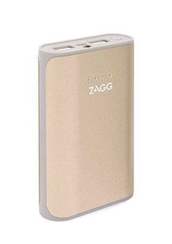 ZAGG IFIGN6-GD0 Zündung 6000mAh Dual USB Portable Ladegerät mit Blitzlicht, Externe Batterie Power Bank Gold