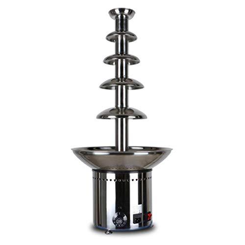 Fontaine à chocolat professionnelle à cinq couches de 60 cm - fontaine à fondue au chocolat en acier inoxydable 304 - chauffage et régulation de la température automatiques - grande capacité 5KG