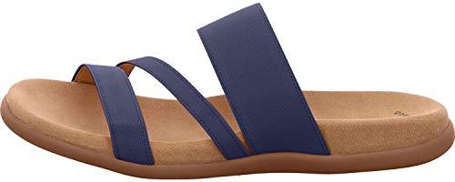 Gabor 83.702-86 Damen Pantolette Textilmaterial hinterlegter Gummizug trendig, Groesse 45, blau