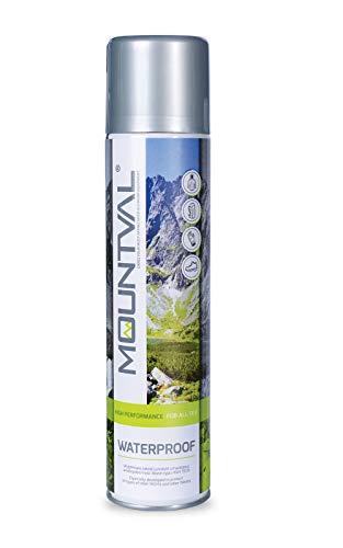 Mountval Waterproof - Farbloses Imprägnierspray gegen Nässe und Schmutz für Outdoor (400 ml - 13.52 FL. Oz.)
