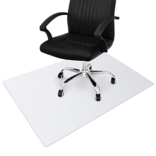 non rolling office chairs Office Chair Mat for Hardwood and Tile Floor 36x48 Inches, under Desk Mat for Rolling Chair and Computer Desk, Anti-slip, Non-toxic Plastic Protector