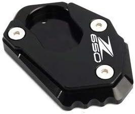 Color : Z650 Black SUSHANCANGLONG Motorrad CNC Kickstand Foot Side-Stand-Verl/ängerungskissen-Tragplatte passt f/ür Kawasaki Z 900 Z650 2017-2020