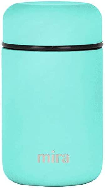 米拉午餐食品罐真空隔热不锈钢午餐保温瓶 13 5 盎司蓝绿色