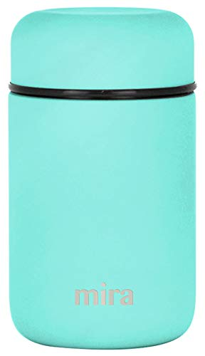 MIRA Lunch, Food Jar - Vacuum Insulated Stainless Steel Lunch Thermos - 13.5 oz - Teal